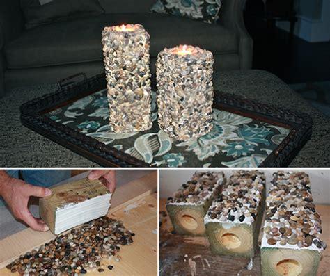 kerzenhalter selber basteln papier kerzenhalter basteln mit steinen freshouse