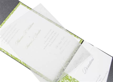 Wedding Invitations Tissue Paper by How To Mail Pocket Invitations Lci Paper