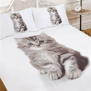 Cat Duvet Cover Uk Single Size 3d Kitten Animal Print Quilt Duvet Cover