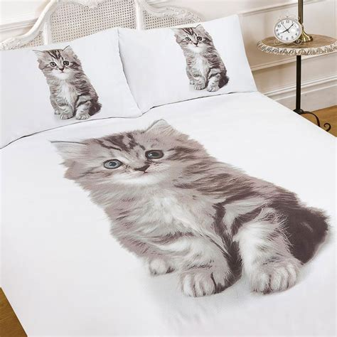 cat bed sheets single size 3d kitten animal print quilt duvet cover