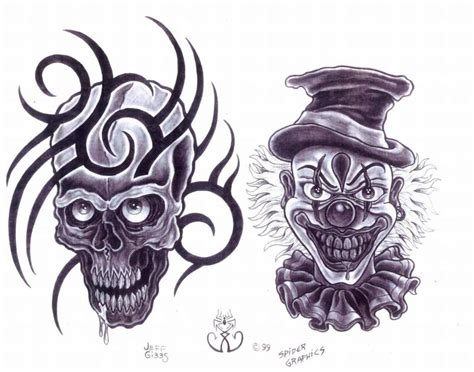 tattoo designs evil clown 40 best clown designs