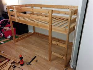 How To Build Bunk Beds Turn A Mydal Bunkbed Into A Kura Loft Bed Ikea Hackers