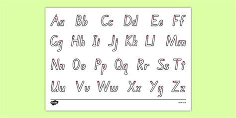 letter formation twinkl letter formation alphabet handwriting sheet uppercase and