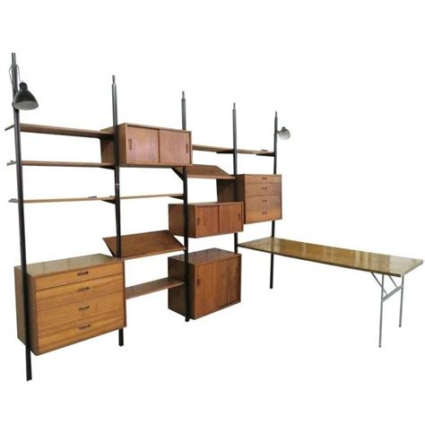 mid century modern wall shelves expansive mid century modern quot omni quot wall unit by george