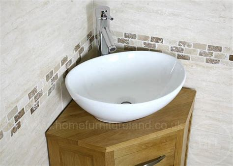 50 off corner oak cloakroom vanity unit with basin
