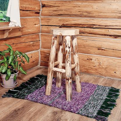Pine Log Bar Stools by Amish Quot Montana Quot Pine Log Bar Stool