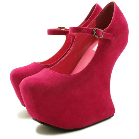 kendra heel less sculptured concealed platform