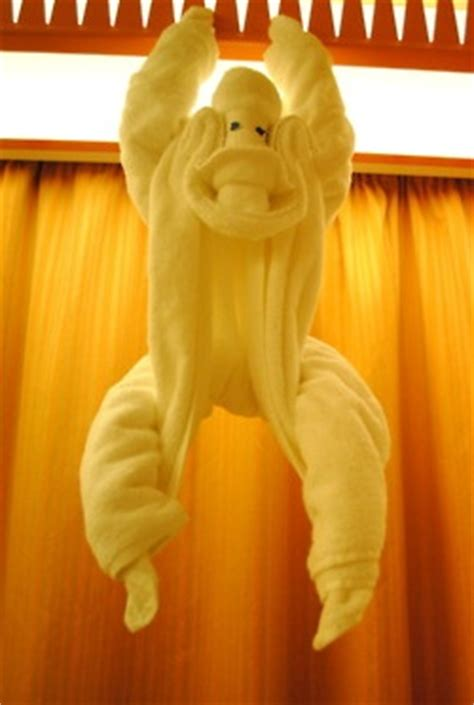 Towel Origami Monkey - towel origami monkey learn how to make towel origami at