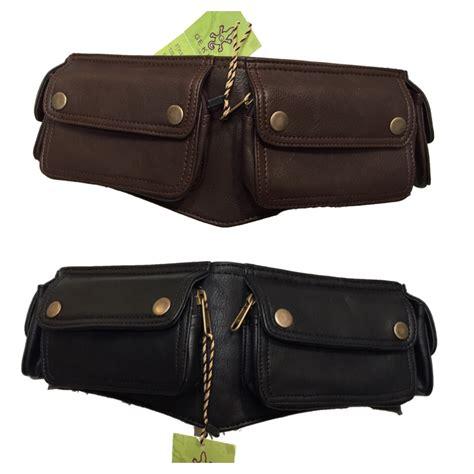 four pockets vegan leather utility belt