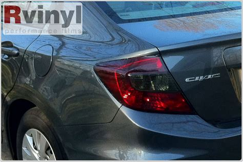 2012 honda civic lights pro precut smoke taillight tint kit honda civic sedan