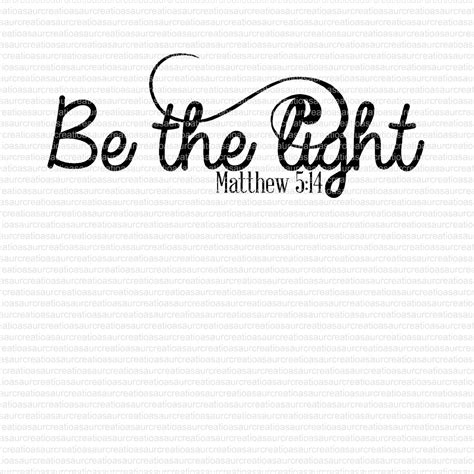 Be The Light Bible Verse by Be The Light Bible Verse Svg Studio Ai Eps Scalable Vector Instant Downloads Cutting Files