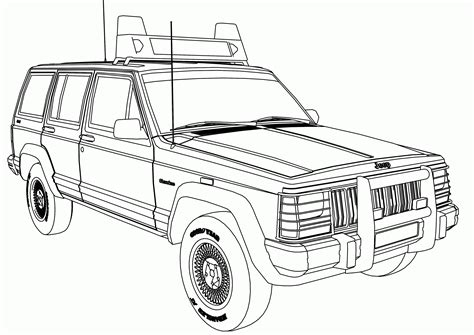 cartoon jeep cherokee 80 coloring page jeep army jeep coloring page