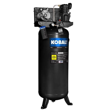 shop kobalt 60 gallon electric vertical air compressor at lowes