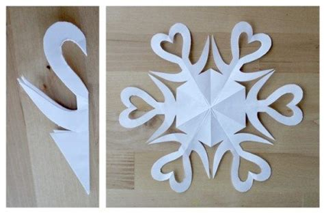 How To Make Snowflakes Using Paper - how to cut paper snowflakes with step by step