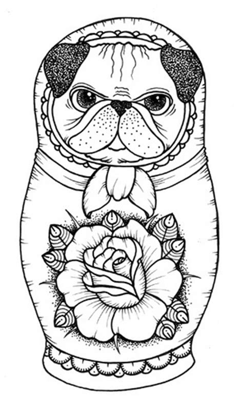 pug coloring pages to print pug coloring pages best coloring pages for