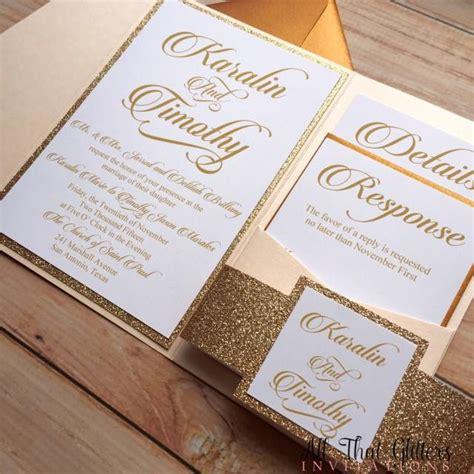 diy wedding invitations gold coast diy gold glitter wedding invitations gold 2570387