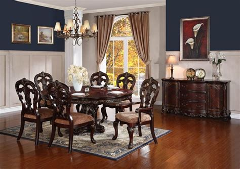 formal round dining room sets von furniture deryn park round to oval formal dining