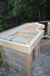 wonderful outdoor kitchen cinder block frame with granite tile for outdoor kitchen countertop