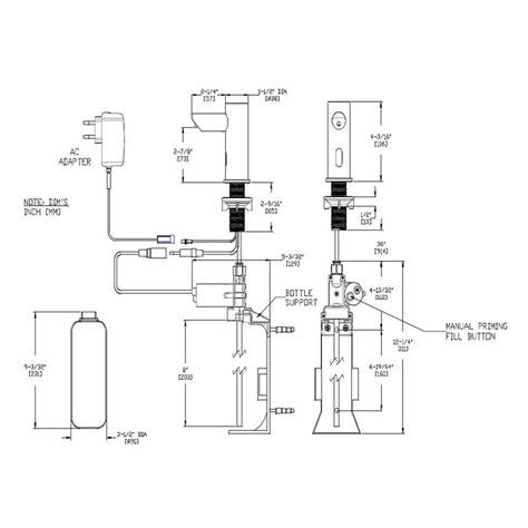 dispenser diagram asi deck mount automatic soap dispenser in canister