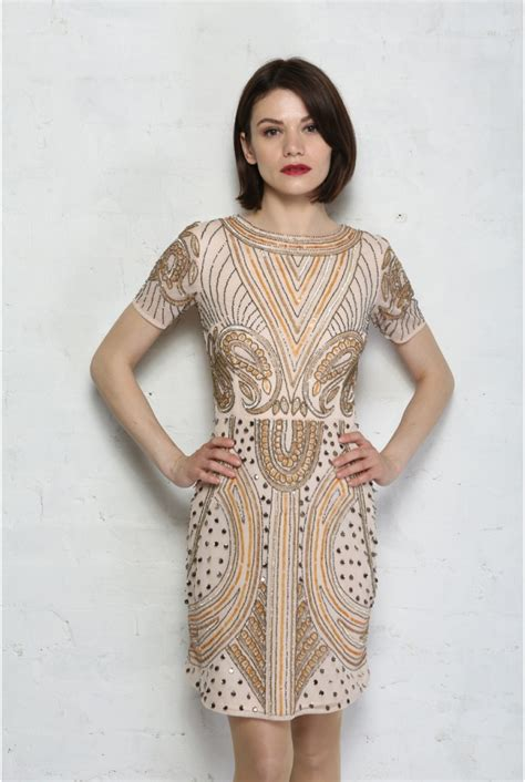 beaded flapper dress deco beaded flapper dress embellished shift dress