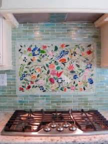 creating the kitchen backsplash with mosaic tiles