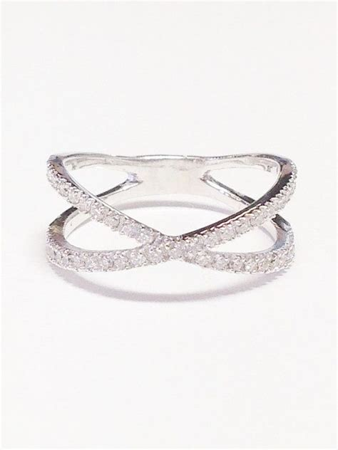0 50ct band criss cross x ring anniversary bands
