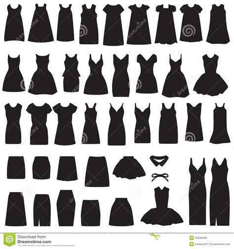 Id Silhouette Dress isolated dress and skirt silhouette stock vector image 40648489