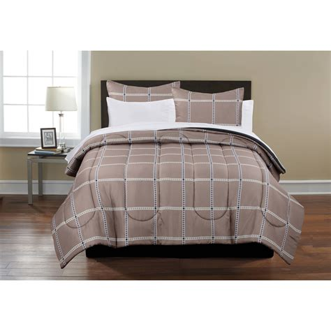 Mainstays Plaid Bed In A Bag Complete Bedding Set Size Bed In A Bag