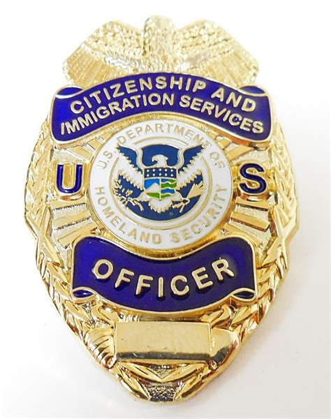 Immigration Services Officer by Citizenship And Immigration Services Officer Badge Lapel