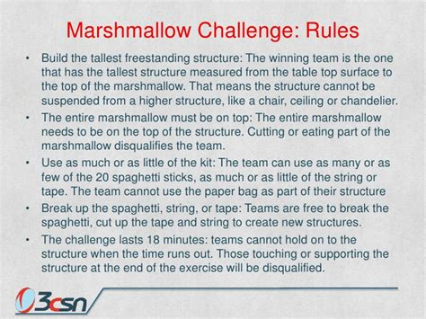 marshmallow challenge instructions bsili opening