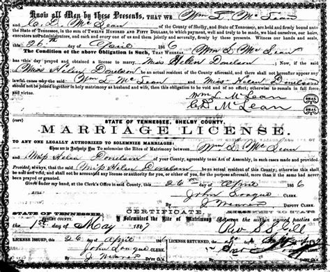 Shelby County Marriage License Records Tennessee Pin By Thunderbird584 On Donelson Family Genealogy