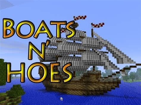 minecraft boat games minecraft boats n hoes mini game youtube