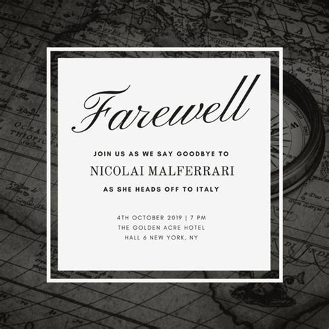 Hail And Farewell Flyer Template