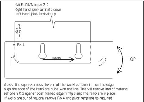 kitchen worktop template worktop template jig