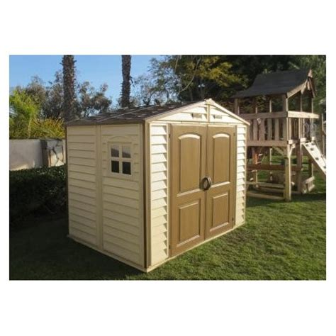 8x5 Shed by Duramax 8 X 5 5 Storeall Vinyl Shed With Foundation Kit