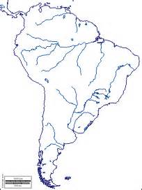 blank map of south america physical features