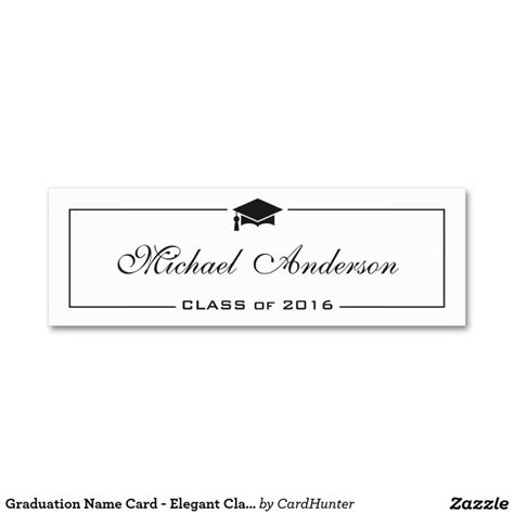 template for graduation name cards graduation name card classic insert card