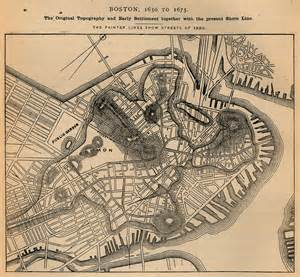 Old Map Of Boston by U S Historical City Maps