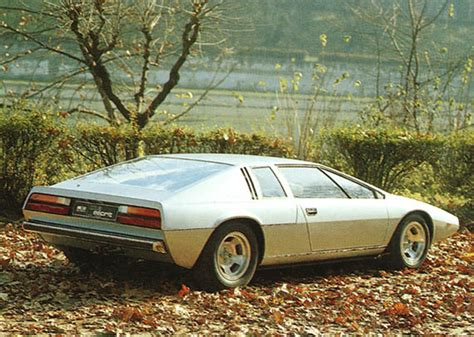 seventies lotus car model les concepts italdesign lotus esprit 1972 leblogauto