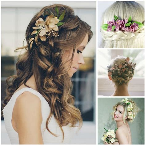wedding hairstyles flower wedding hairstyles with flowers