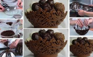 How To Make Chocolate Decorations At Home by Diy Chocolate Basket Find Fun Art Projects To Do At Home