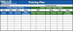 generating value by using a training plan value