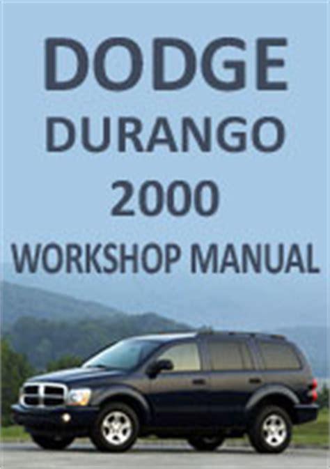 download car manuals pdf free 2000 dodge caravan transmission control dodge durango 2000 workshop repair manual