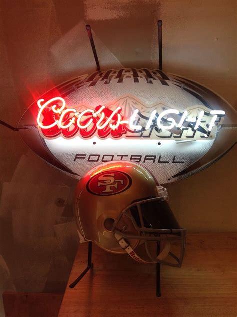 is coors light a rice coors light 49 ers helmet neon light sign 49ers