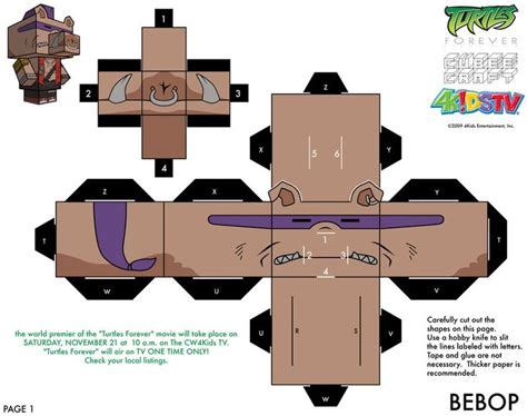 Mutant Turtles Papercraft - mutant turtles printables a collection of