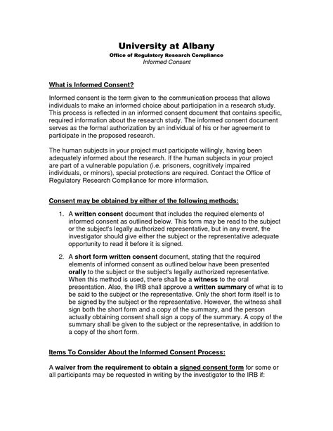 irb informed consent template irb informed consent template image collections template