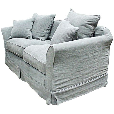 feather filled sofa lisbon sofa w feather down filled cushions grey buy