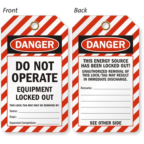 printable danger tags do not operate equipment locked out tag danger osha tag