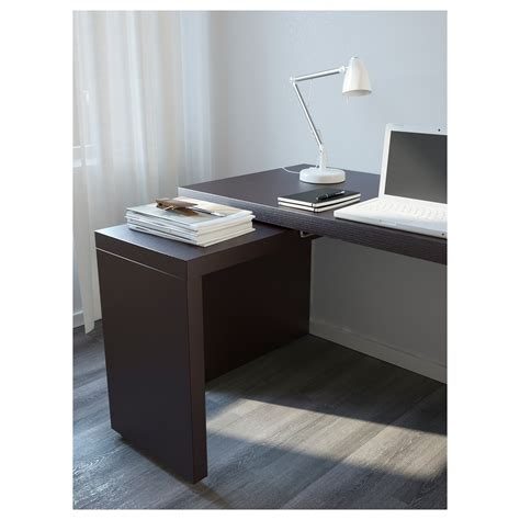 malm desk with pull out panel malm desk with pull out panel black brown 151x65 cm ikea