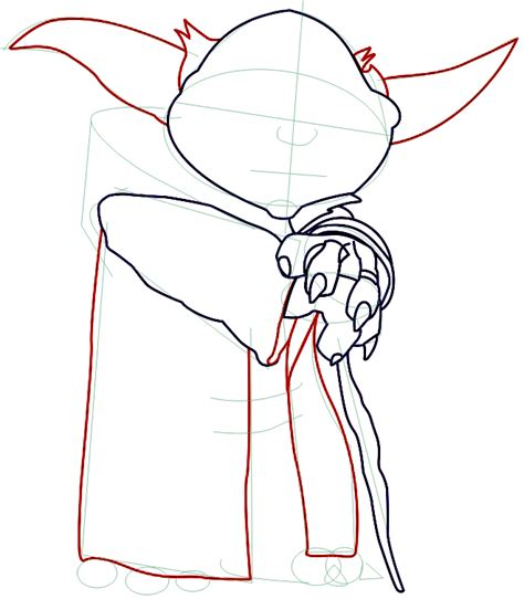 Drawing Yoda by How To Draw Yoda From Wars With Step By Step Drawing